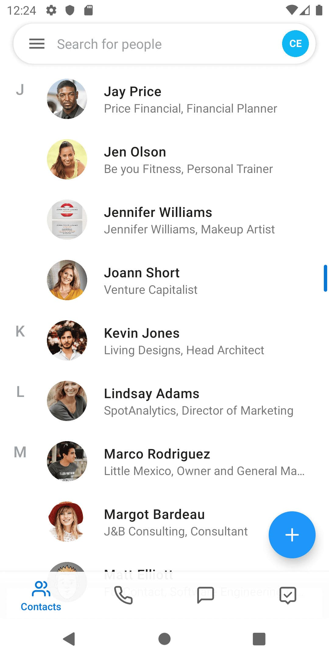 android-uni-contacts-list